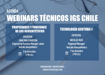 Agenda Webinars técnicos IGS Chile
